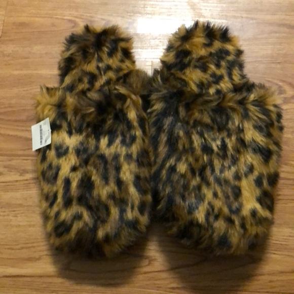 j crew leopard slippers